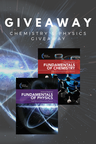 Science Shepherd homeschool physical science giveaway banner