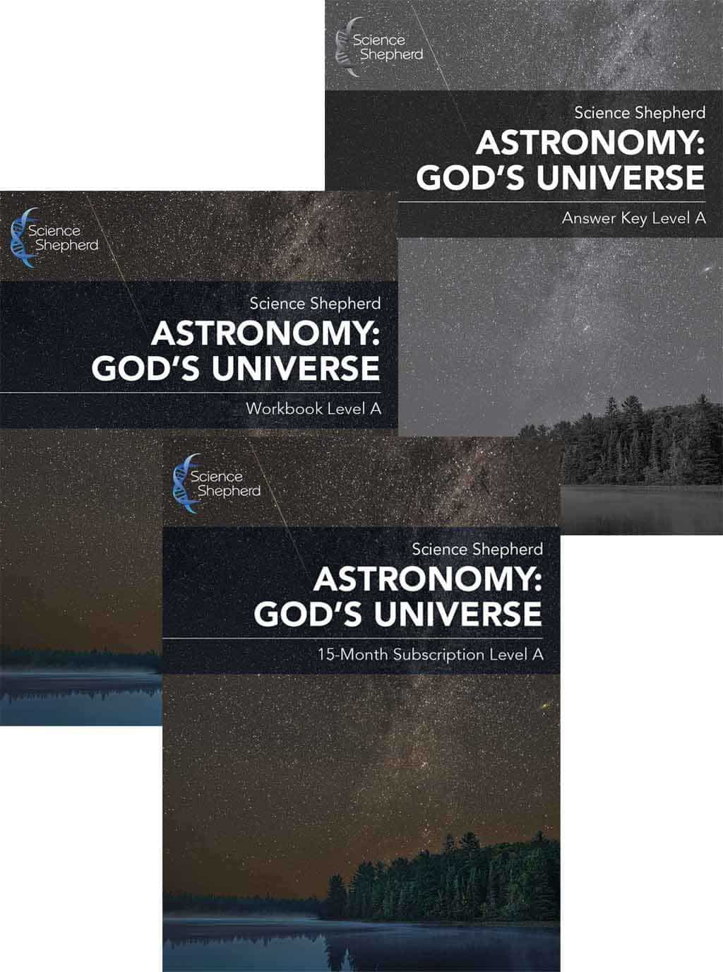 Christian astronomy curriculum level a bundle cover