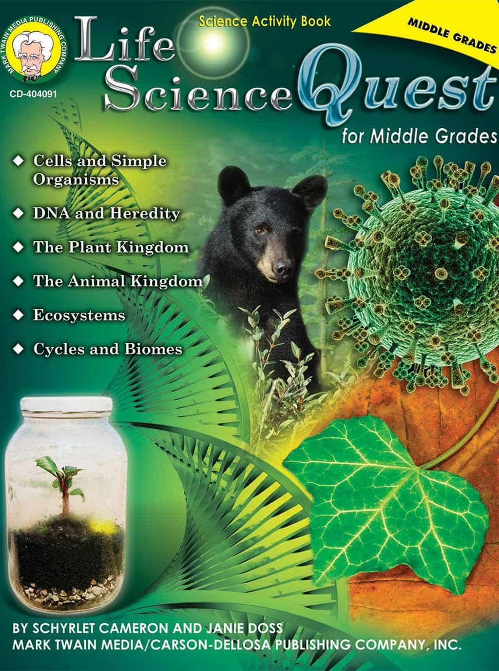 Life Science Quest for Middle Grades cover for Science Shepherd Homeschool Curriculum