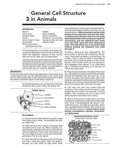 Science Shepherd High School Biology Lab Manual procedure sample page