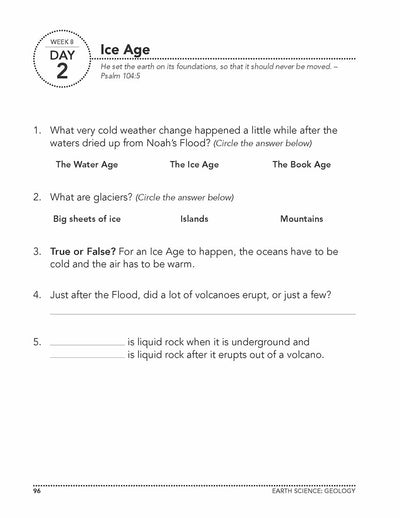 Science Shepherd Homeschool Introductory Science Workbook Level B week 8 day 2 page
