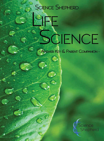 Science Shepherd Middle School Life Science Answer Key and Parent Companion cover