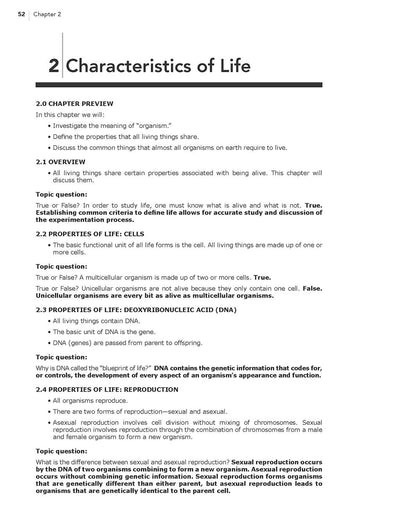 Science Shepherd Homeschool Life Science Answer Key and Parent Companion sample page 1