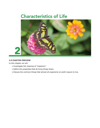 Science Shepherd Middle School Life Science Textbook chapter 2 preview page
