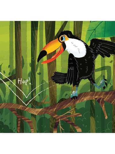 What Can You Do South America? Christian board books for babies toco toucan page