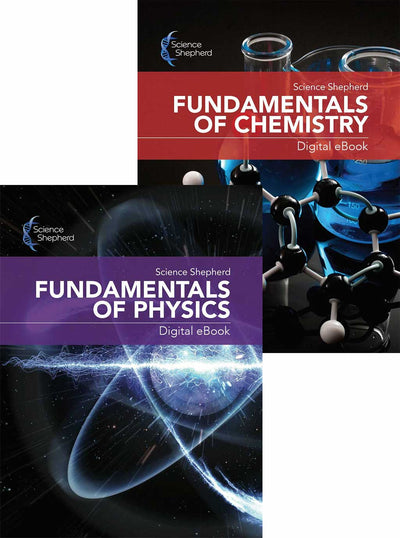 Science Shepherd homeschool science middle school Chemistry and Physics bundle textbook ebook covers