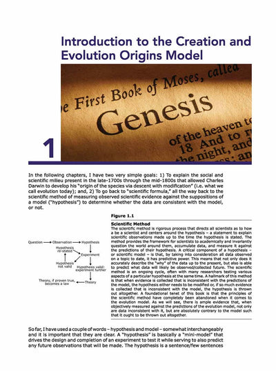 Science Shepherd The Philosophy & History of Origins chapter 1 page 1 sample