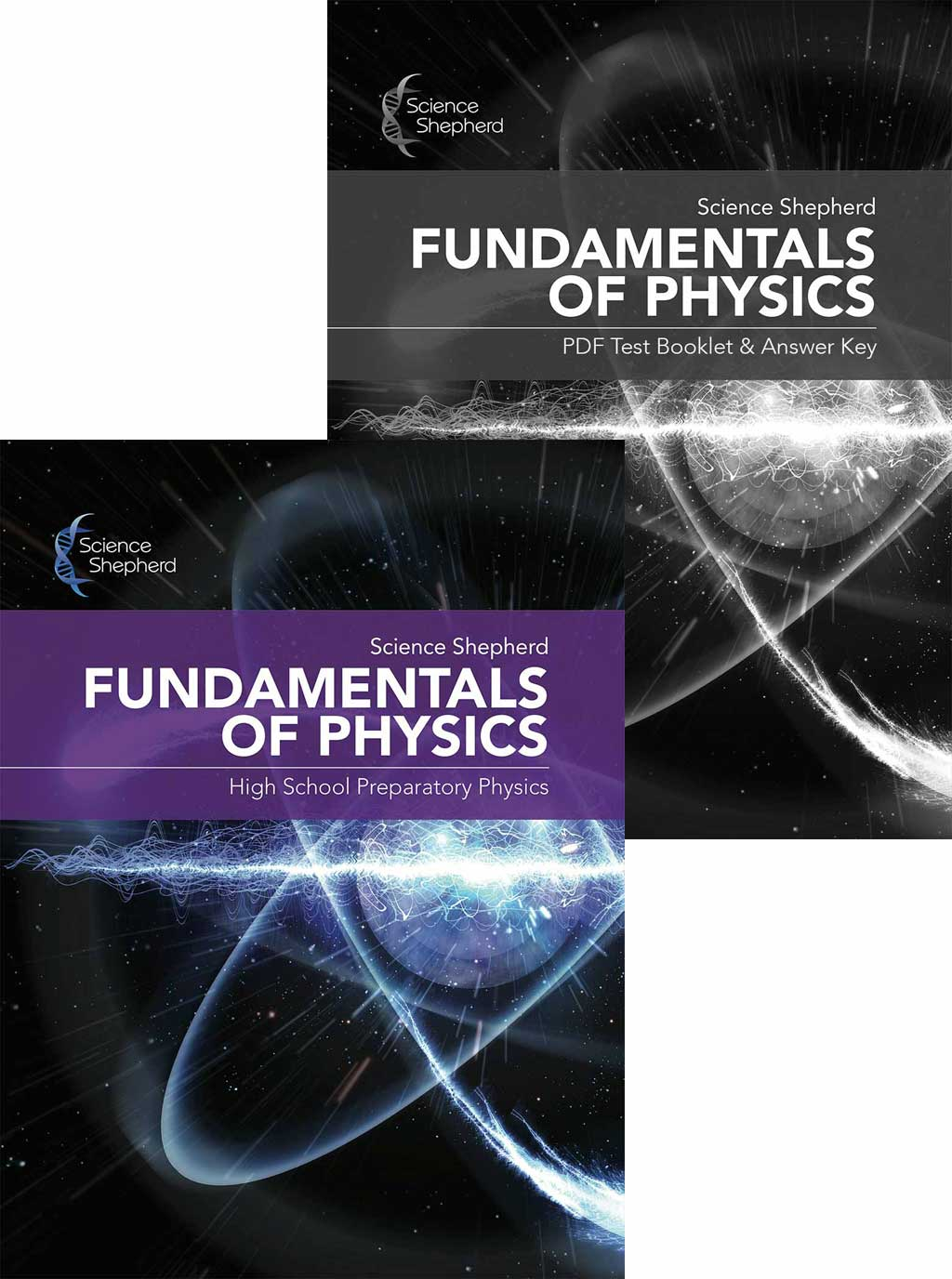 Science Shepherd homeschool physics curriculum bundle with textbook and test/answer key packet