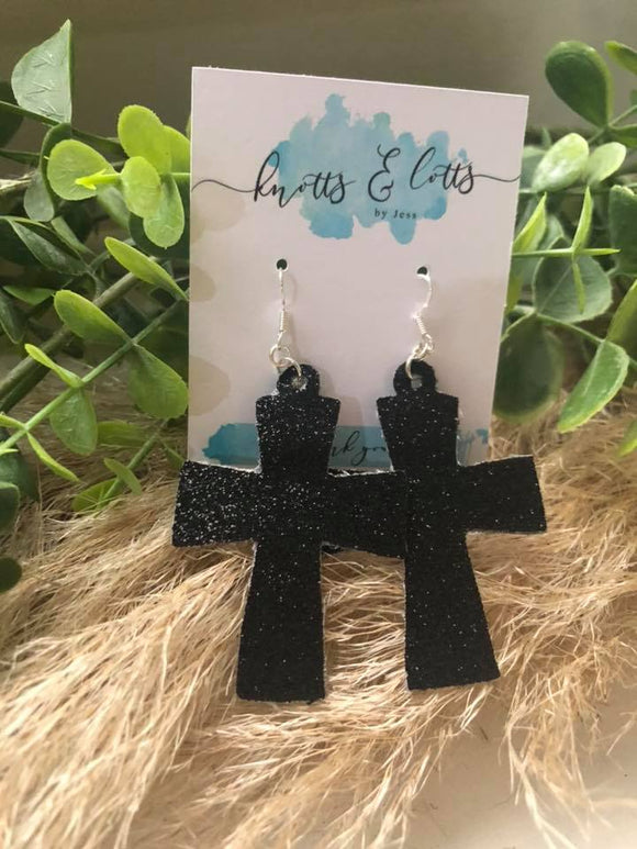 Black Glitter Cross