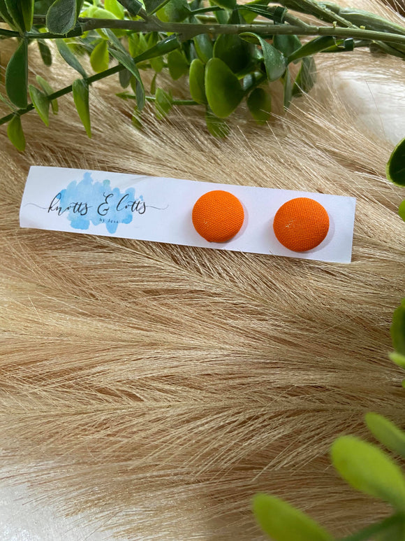 Bright Orange Studs 15mm