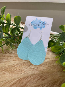 Tiffany Blue Leatherette Teardrop