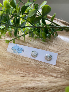 Metallic Silver Mermaid Studs