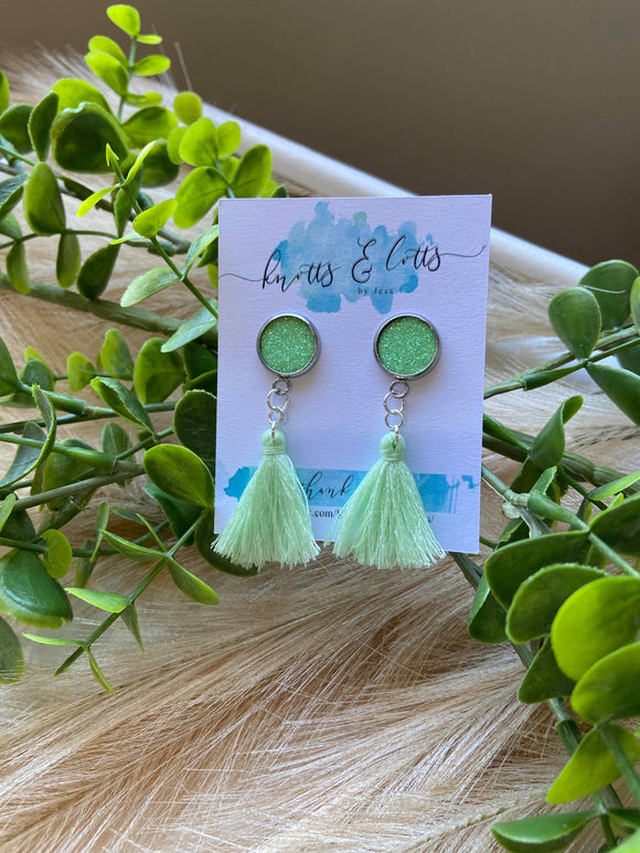 Lime Tassel with Glitter Vinyl Resin Studs