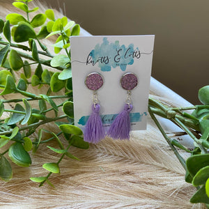Lilac Tassels with Glitter Vinyl Resin Studs