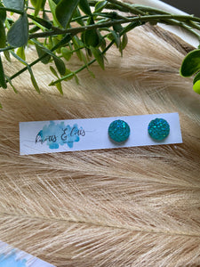 Turquoise Stardust Studs