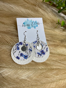 Silver Hook White & Blue Petite Floral