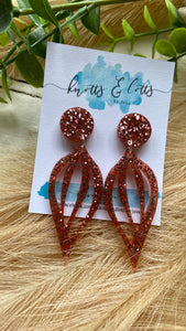 Rose gold Drop Dangles