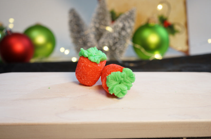 Strawberry Christmas Cookies