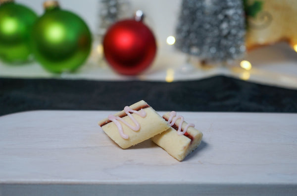 Raspberry Ribbon Christmas Cookies