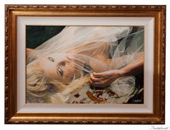 "ART by Santodonato: ""Bride in Waiting 2"" framed original painting"