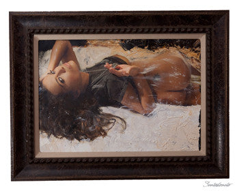 "ART by Santodonato: ""The Heart"" framed original painting"