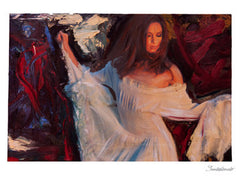 "ART by Santodonato: ""Valentina"" unframed original painting"