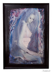 "ART by Santodonato: ""Virgin Monique"" framed original painting"