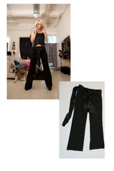 Ash Hollywood black pants worn during her photo shoot with Striplv Magazine