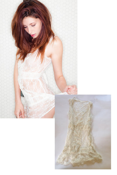 Ashlyn Molloy Lace Dress as seen in her shoot with STRIPLV Magazine