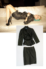 "Danielle Trixie ""Antonio Melani"" Skirt & Jacket Suit in size 0 as seen in her shoot with STRIPLV Magazine"
