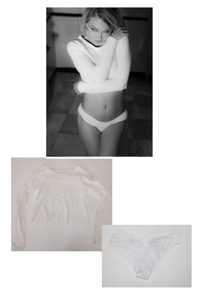 Jeanie Marie Sullivan Shirt and Panty from her shoot with Striplv Magazine