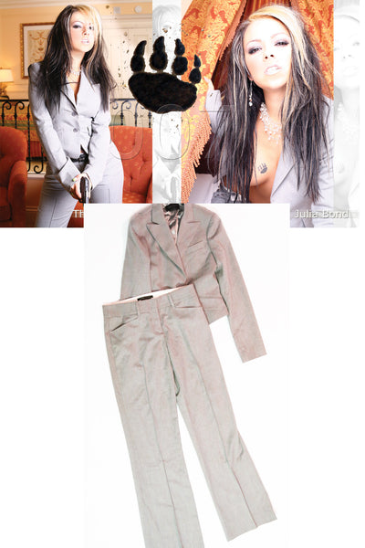 "Julia Bond ""BCBG Max Azria"" Pant Suit in size XXS as seen in her shoot with STRIPLV Magazine"