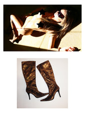 Melissa Jacobs Boots as worn in her Photo Shoot with Striplv Magazine