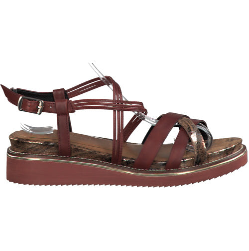 Tamaris Wedge Sandal - 28207-24 - Dark Red