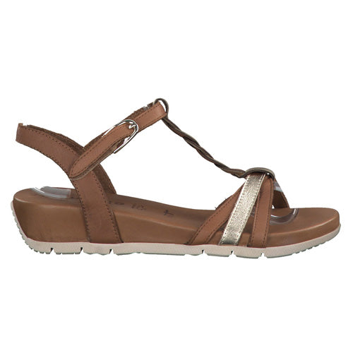 Tamaris Wedge Sandals  - 28251-24 - Tan