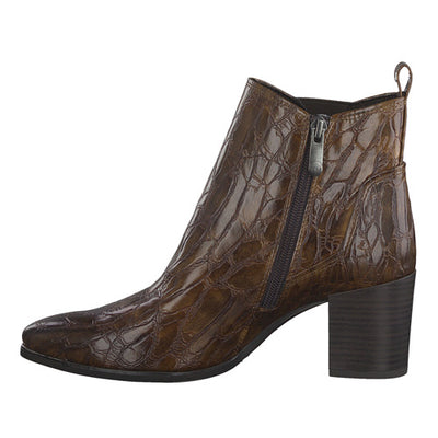 Marco Tozzi Ankle Boots- 25052-25 - Tan Croc