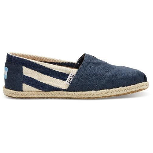 Toms Slip On - University Classic - Navy Stripe