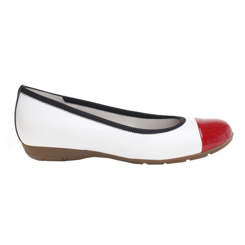Gabor Pumps - 44.161 - White/ Navy/ Red