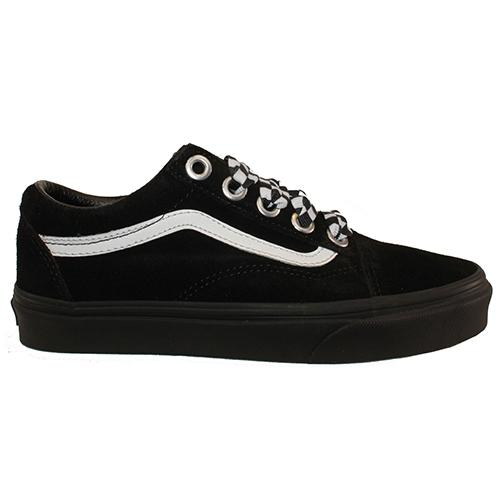Vans Classic Skate Shoe  - Check Lace  Old Skool - Black