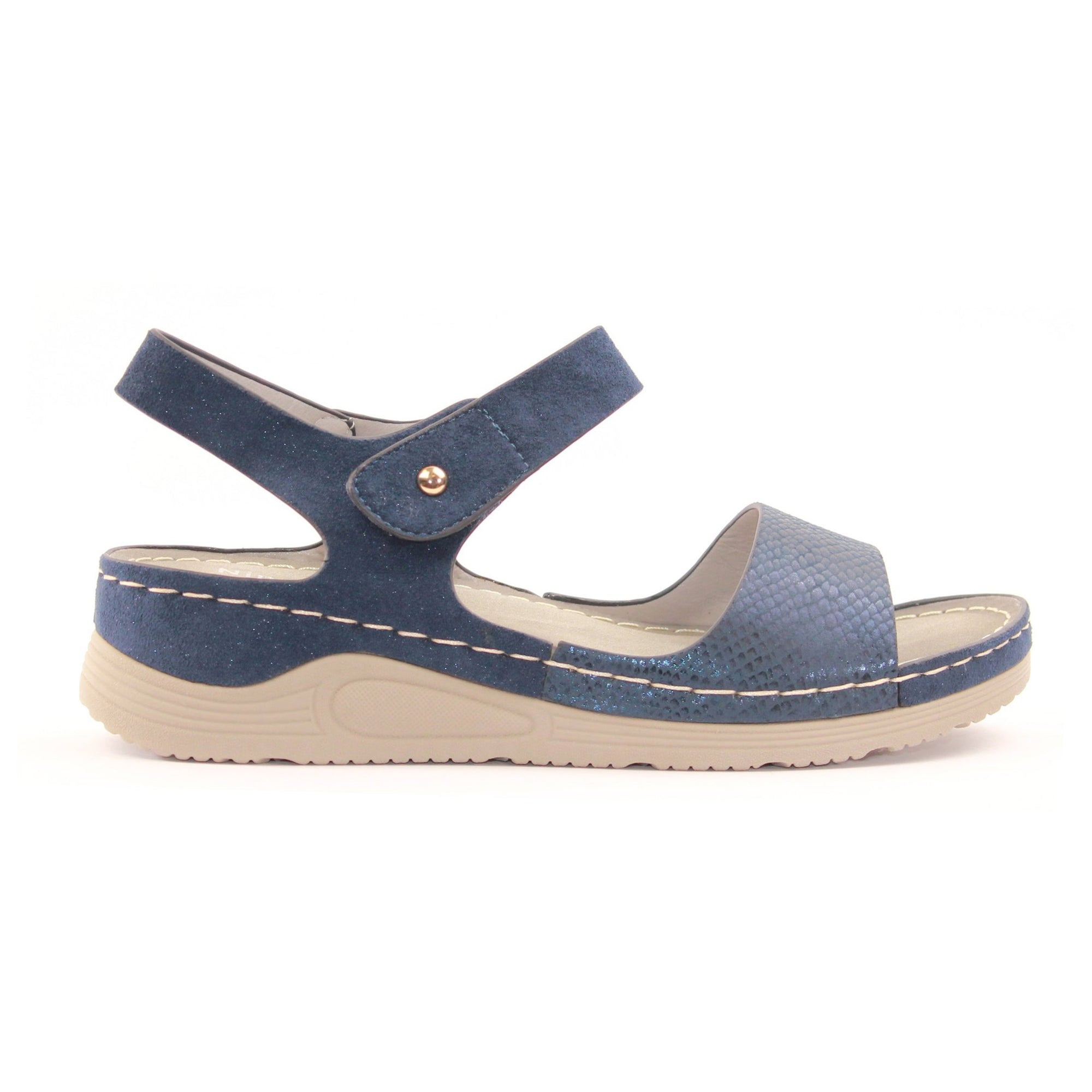 Redz  Wedge Sandals - B18 - Navy