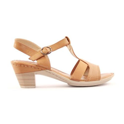 Redz Ladies Block Heel Sandal -  3151-L20 - Tan