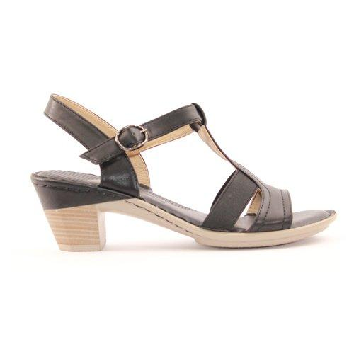 Redz Ladies Block Heel Sandal- 315-L20 - Black