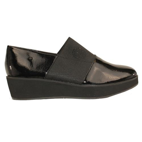 Zanni Wedge Shoes - Arad - Black