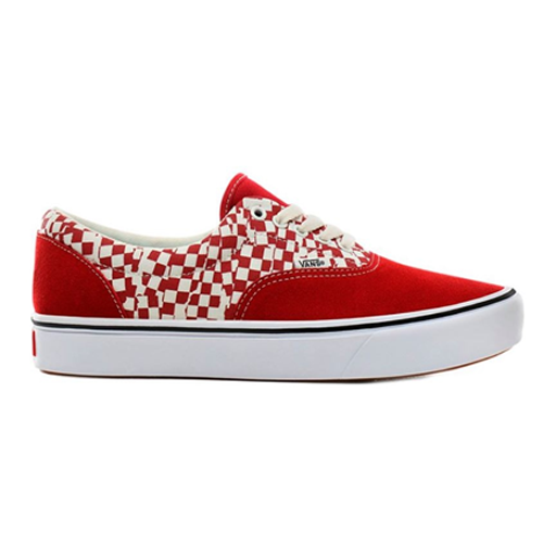 Vans Skate Shoes  -  Era  Comfy Cush- Red Checkerboard