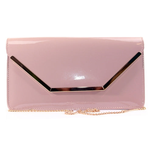 Glamour Clutch Bag - Abi - Nude