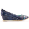 Zanni Wedge Shoe - Byblos - Blue