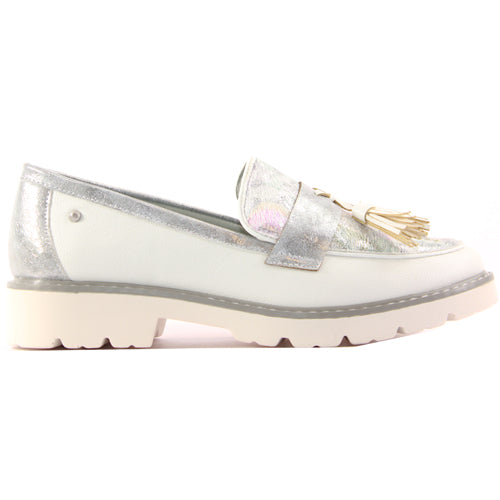 Zanni Ladies Flat Shoe - Bastam - White