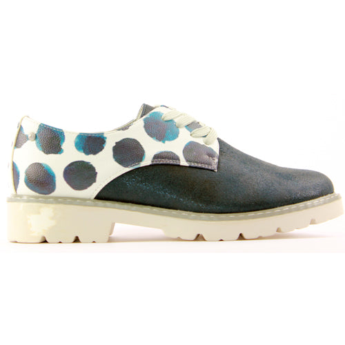 Zanni Ladies Flat Shoe  - Hebron - Navy