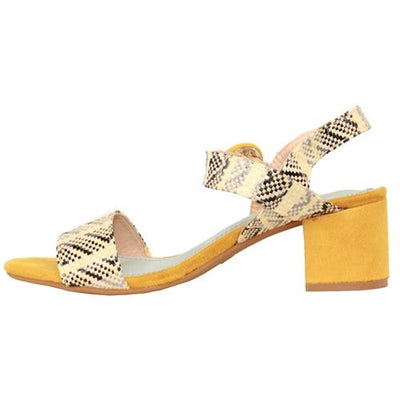 Zanni Ladies Block Heel Sandal - Kish - Yellow