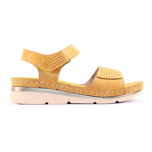 Zanni Ladies Wedge Sandal - Thaj - Yellow